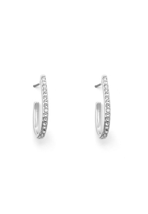 SNÖ of Sweden Corinne Oval Earring S/Clear One size
