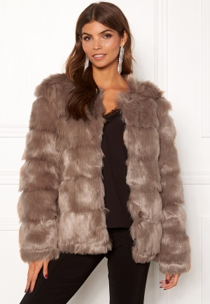 DRY LAKE Cozy Bubble Mid Jacket Taupe XS