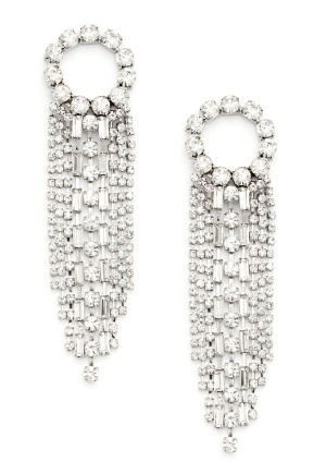 WOS Curtain Earrings Silver One size