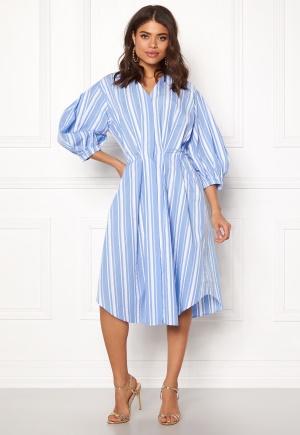 DAGMAR Chloe Dress Blue Stripe 34