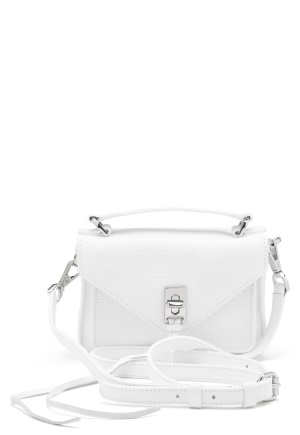 Rebecca Minkoff Darren Group Leather Bag 129 White/Silver One size