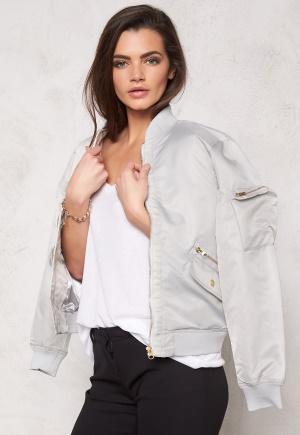 D.Brand Golden Zip Bomber Jacket Grey M