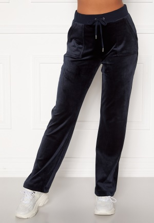 Juicy Couture Del Ray Classic Velour Pant Night Sky M
