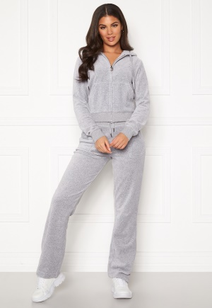 Juicy Couture Del Ray Classic Velour Pant Light Grey Marl M