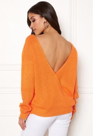 Rut & Circle Doris Back Wrap Knit Orange M