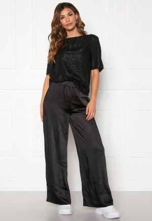 Dr. Denim Bell Trousers Black Satin L
