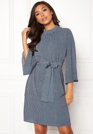 DRY LAKE Amy Dress Blue Crown Print M