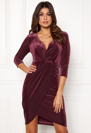 DRY LAKE Angelina Dress 608 Burgundy L