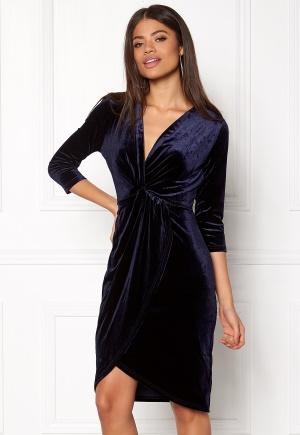 DRY LAKE Angelina Dress Navy Velvet M