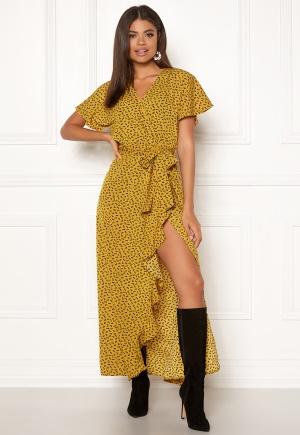 DRY LAKE Bela Long Dress 862 Yellow Heart P L