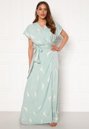 DRY LAKE Floral Long Dress 841 Mint White Wave S