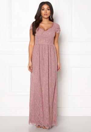 DRY LAKE Kayla Long Dress Dusty Rose S