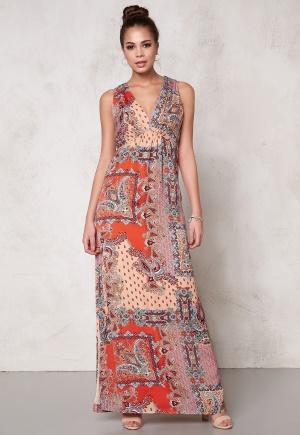 DRY LAKE Max Long Dress Orange Summer Sky S
