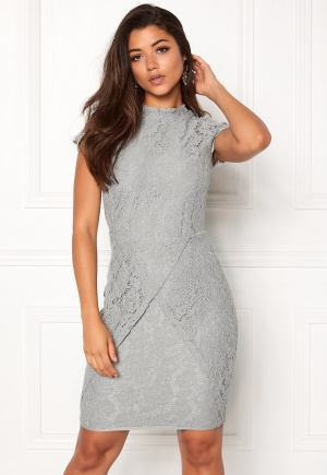 DRY LAKE Mist Overlap Dress Grey Lace S