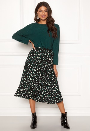DRY LAKE Mojo Skirt 863 Green Leo Print XS
