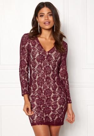 DRY LAKE Mythology Dress Burgundy Lace XS