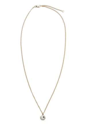 Dyrberg/Kern Ette Crystal Necklace Gold One size