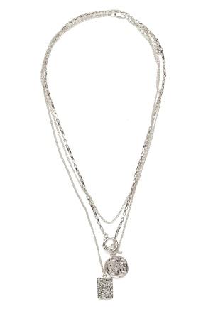 Pieces Elda Combi Necklace Silver One size