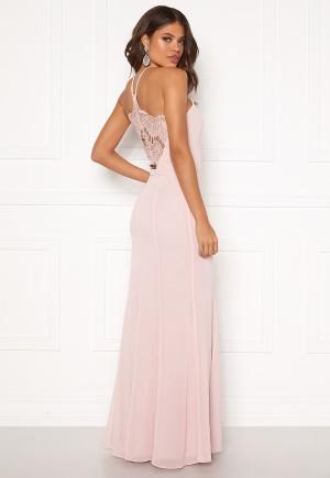 Se Chi Chi London Ellison Lace Back Dress Mink XL (UK16) ved Bubbleroom