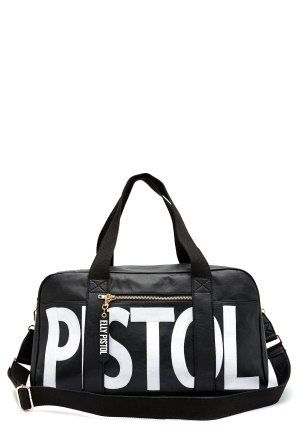 Elly Pistol Weekend babe Bag Musta/Roosa One size