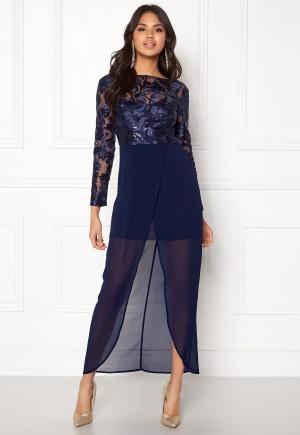 Girl In Mind Evening Maxi Dress Blue L (UK14)