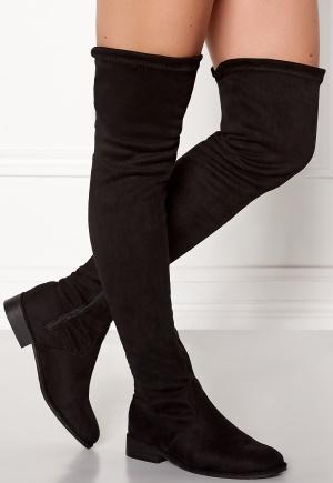 AX Paris Faux Suede High Boots Black 39