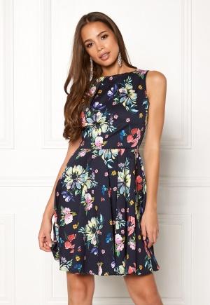 Closet London Floral Sleeveless Dress Navy S (UK10)