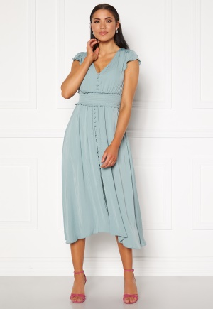 FOREVER NEW Amayah Button Front Midi Dress Jade Stone 34