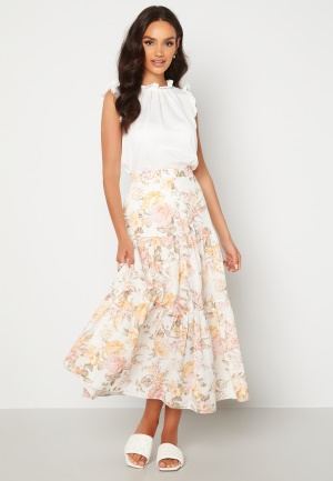 FOREVER NEW Fleur Tiered Maxi Skirt Vintage Splendor 34