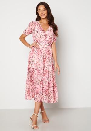 FOREVER NEW Freya Midi Dress Claret Ditsy 36