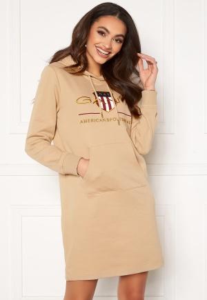 GANT Archive Shield Hoodie Dress Dry Sand L