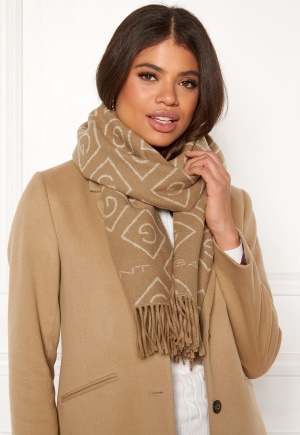GANT G Wool Scarf 213 Warm Khaki One size