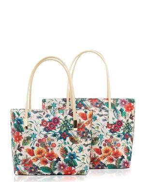 Gessy Två Väskor, Missy Beige, röd, rosa, grön One size