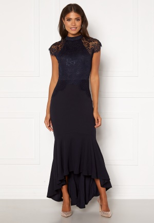 Girl In Mind Erin Fishtail Midi Dress Navy XS (UK8)