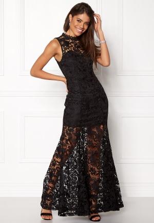 Girl In Mind Lace Maxi Dress Black L (UK14)