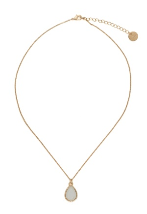 BY JOLIMA Glam Drop Necklace Milky White Gold One size