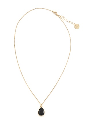 BY JOLIMA Glam Drop Necklace Black/Gold One size
