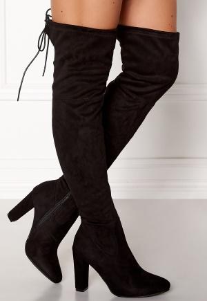 Glossy Extra Overknee Black 37 (UK4)