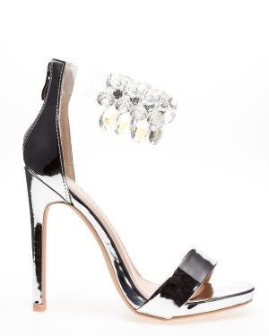 Glossy Sandaletter, Candy Silver 4/37