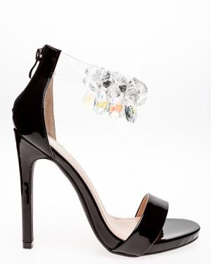 Glossy Sandaletter, Candy Svart 4/37