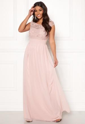 Goddiva Chiffon Maxi Flower Dress Rose M (UK12)