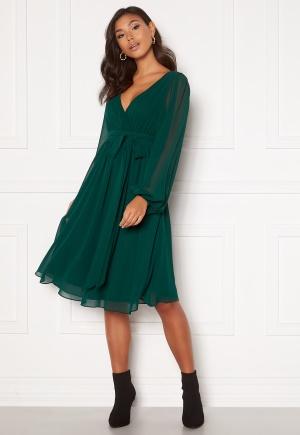 Goddiva Chiffon Midi Dress Green S (UK10)
