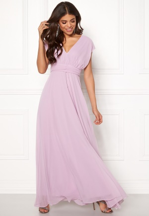 Image of Goddiva Multi Tie Chiffon Dress Iris XL (UK16)