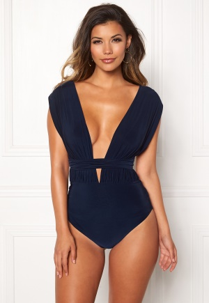 Goddiva Multi Tie Swimsuit Navy XS