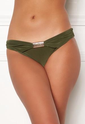 Goddiva Resort Halterneck Bikini Bottom khaki S