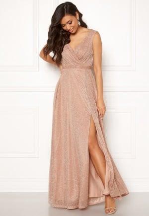 Goddiva Wrap Front Maxi Dress Nude XXL (UK18)