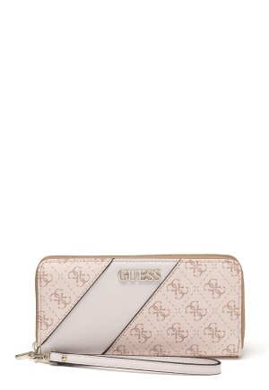 Guess Camy Large Zip Around Bag Blush Multi One size