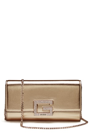 Guess Dazzle Clutch Gold One size