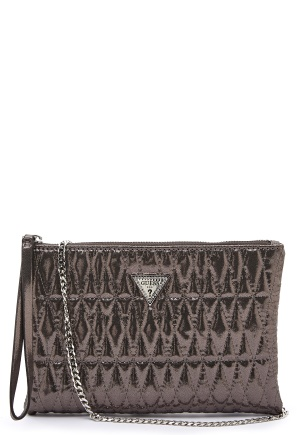 Guess Pixi Wrislet Clutch Pewter One size