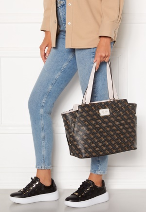 Guess Tyren Girlfriend CarryAll Brown Stone One size